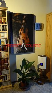 printed acoustic panel with violin